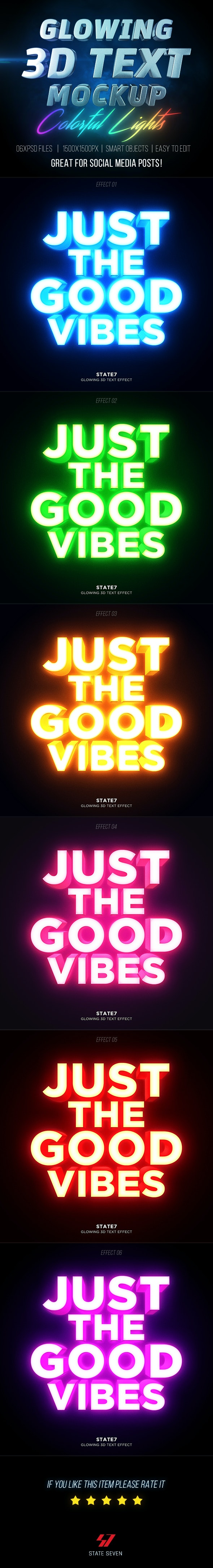 3D Text Mockup V2 - Text Effects Actions