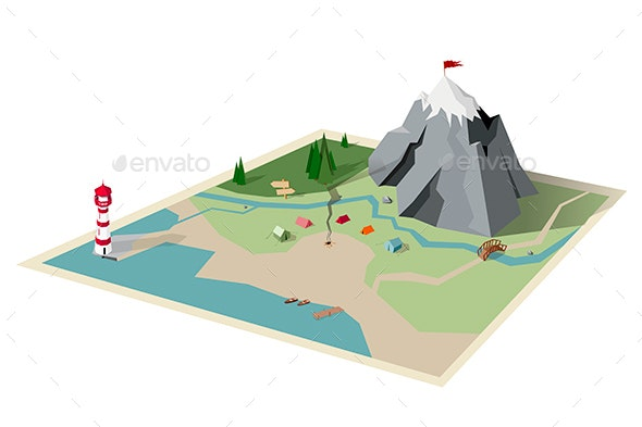 Camping Map - Landscapes Nature