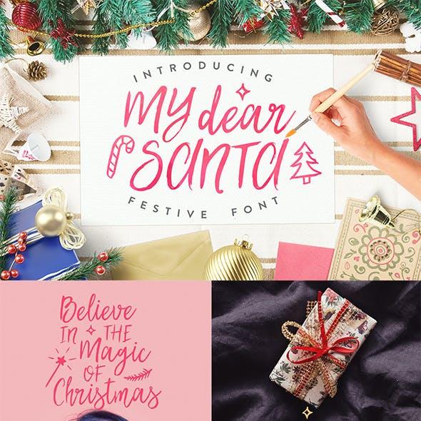 My Dear Santa Christmas Font