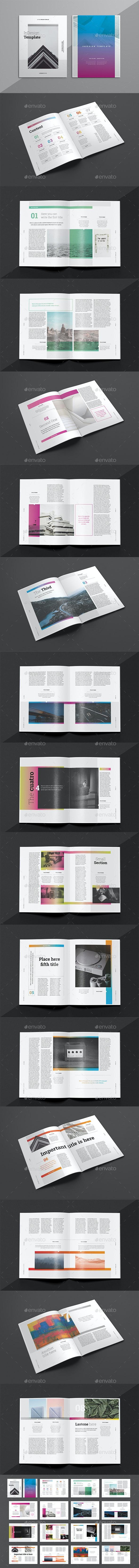 Multipurpose Indesign Magazine Template 8 - Magazines Print Templates
