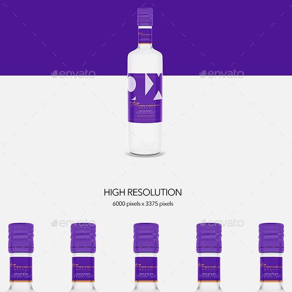 Beverage - Bottle Glass - Frosted - Glossy Label