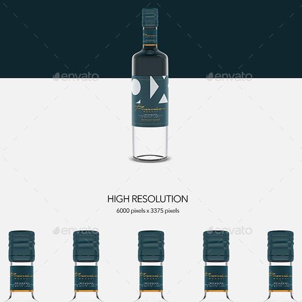 Beverage - Glass - Translucent  Bottle - Matte Label - Mockup