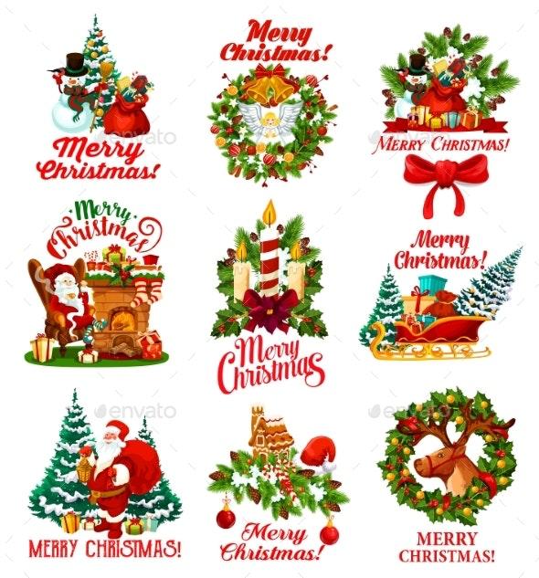 Christmas Wishes Vector Greeting - Christmas Seasons/Holidays