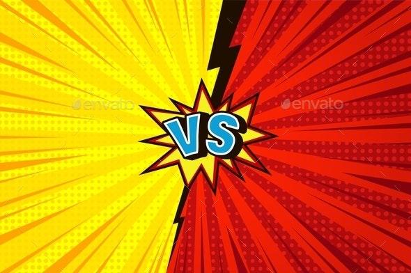 Comic Versus Competitive Concept - Sports/Activity Conceptual