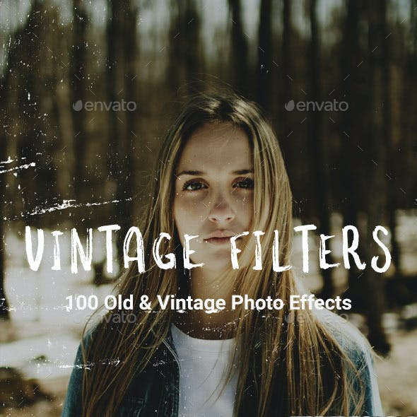 100 Vintage Old Photo Filter Template
