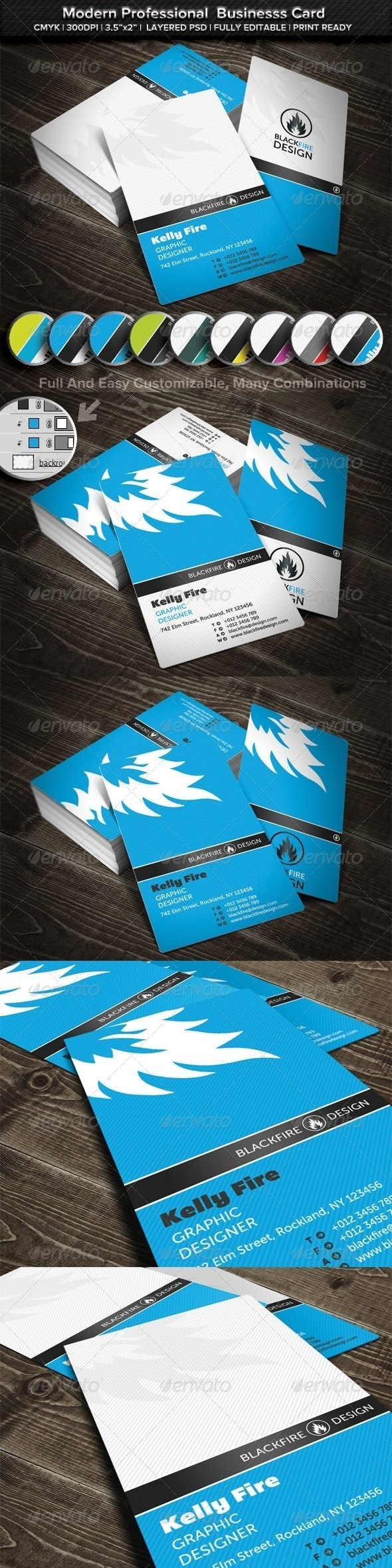 Modern Professional Business Card - Business Cards Print Templates