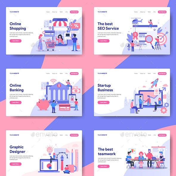 12 Business Illustration For Landing Page