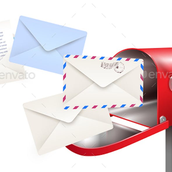 Post Mailbox Letters Composition