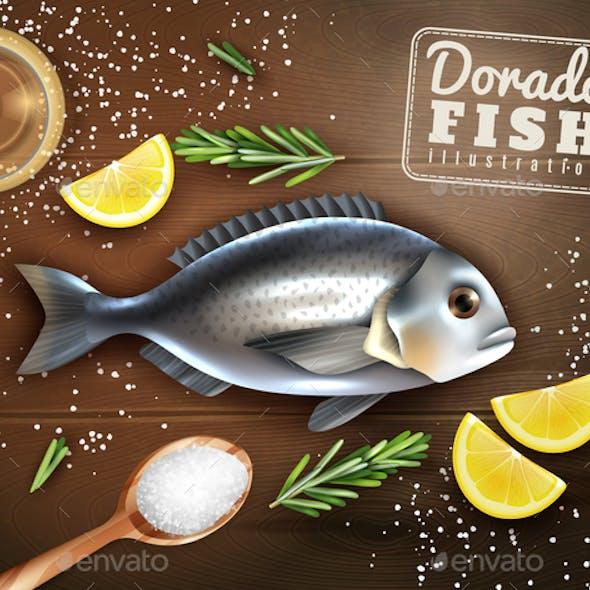 Fish Cooking Illustration