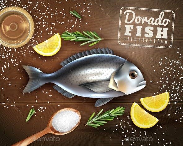 Fish Cooking Illustration - Animals Characters