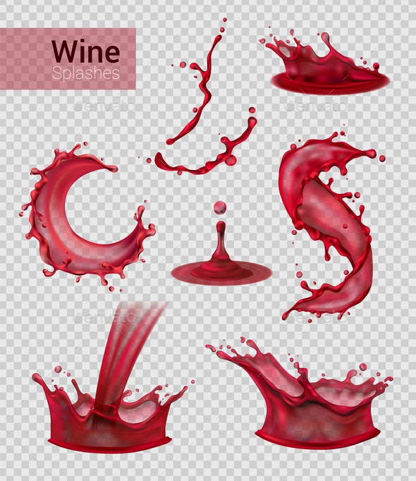 Red Wine Spray Collection - Miscellaneous Vectors