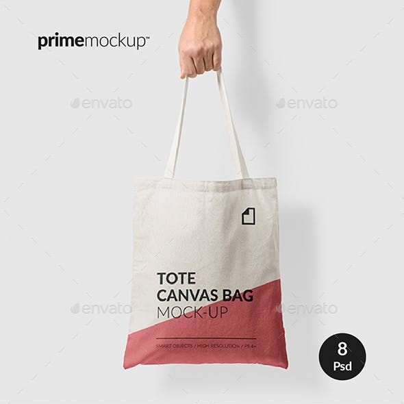 Canvas Tote Bag Mock-Up Vol.1