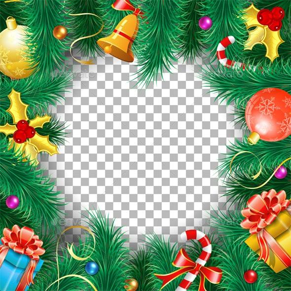 Christmas and New Year Frame - Christmas Seasons/Holidays