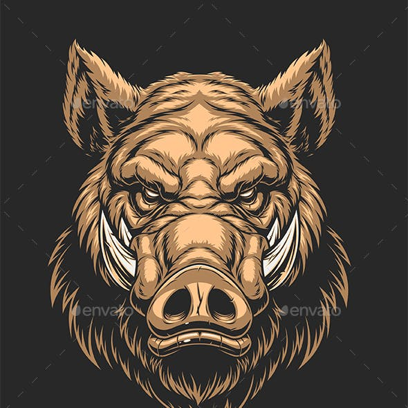 Head of Ferocious Boar
