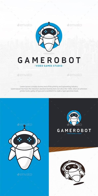 Robot Games Logo Template - Humans Logo Templates