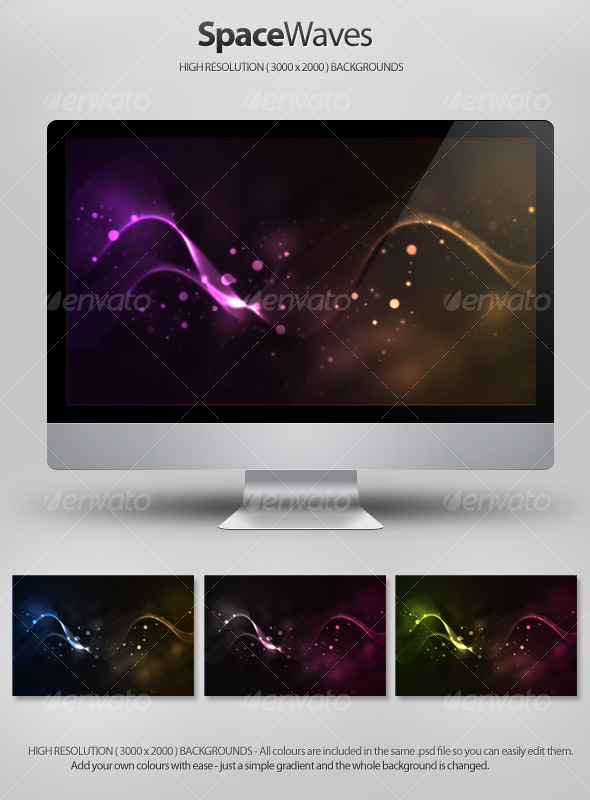 Space Waves Backgrounds - Backgrounds Graphics