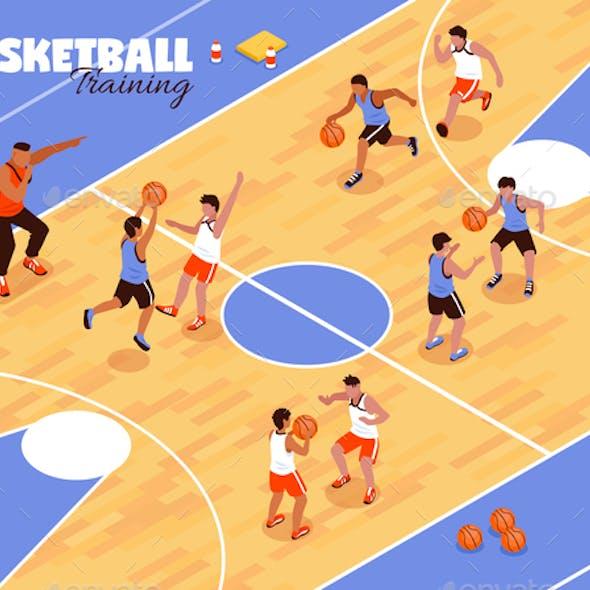 Children Basketball Team Background