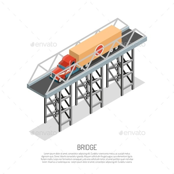 Bridge Detail Isometric - Buildings Objects