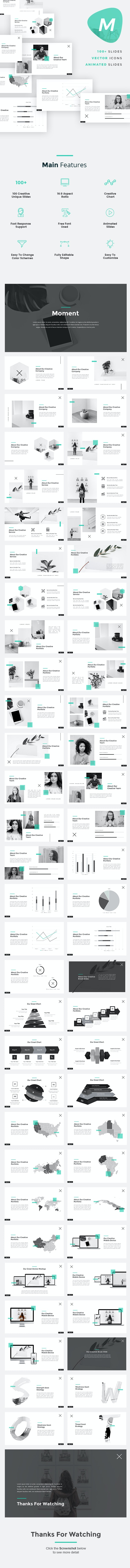 Moment - Minimalist PowerPoint Template - Creative PowerPoint Templates