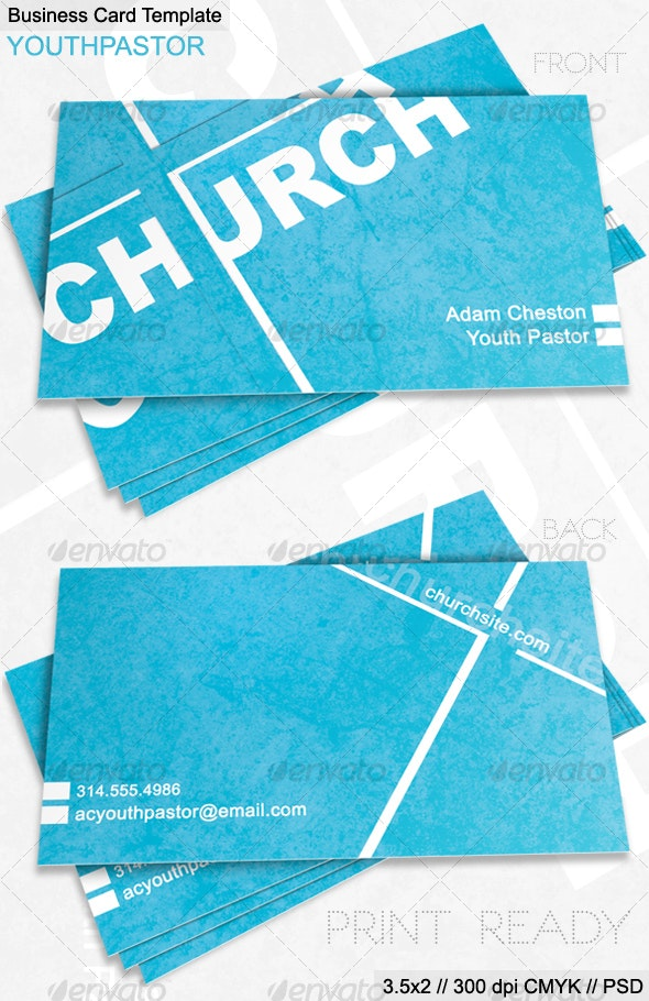 Church Business Card - Industry Specific Business Cards