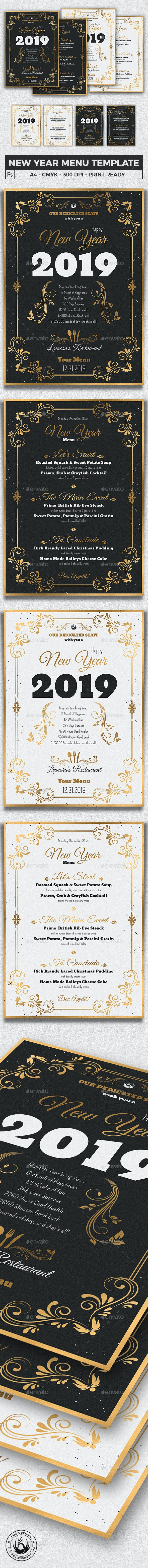 New Year Menu Template V1 - Holidays Events