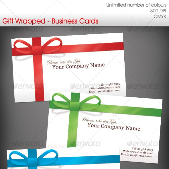 Gift Wrapped Business Cards