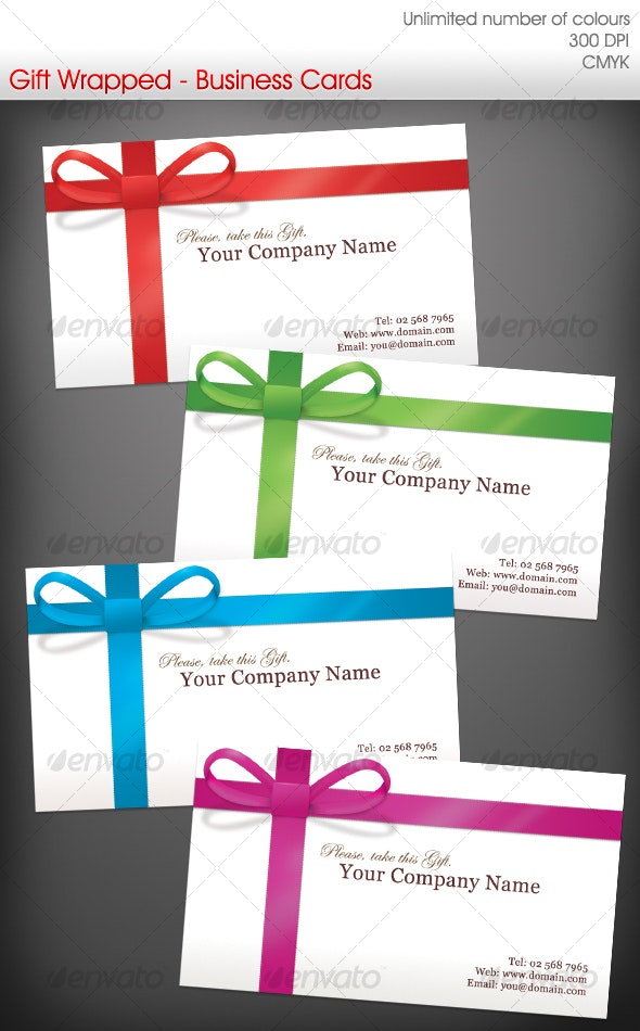 Gift Wrapped Business Cards - Real Objects Business Cards