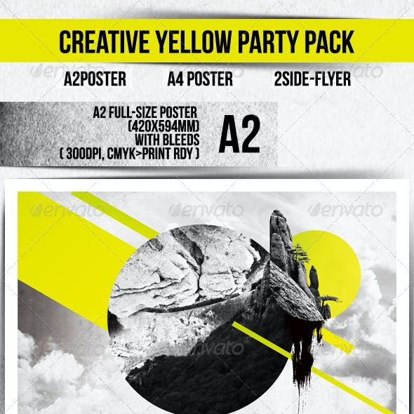 Creative Yellow Party Template