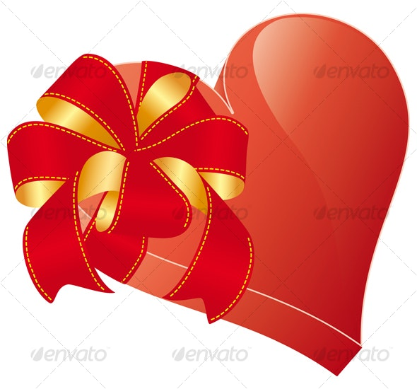 valentines heart with bow - Valentines Seasons/Holidays