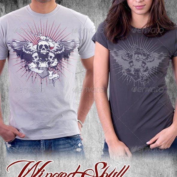 Winged Skull Band T-shirt