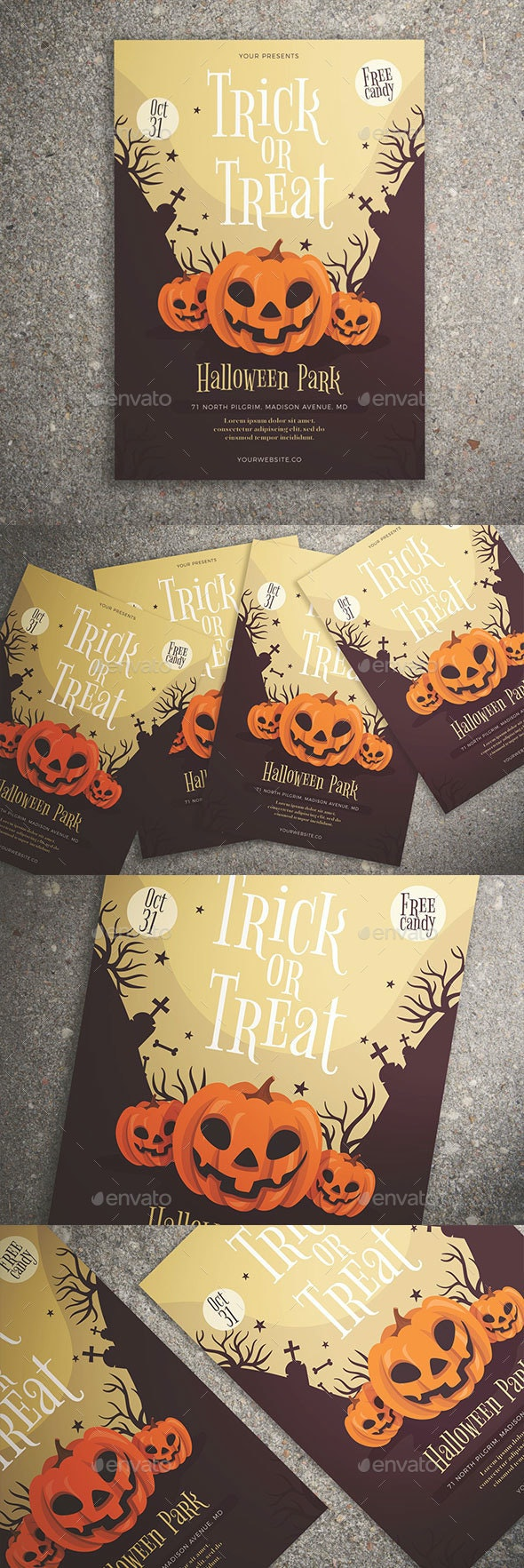 Trick or Treat Halloween Flyer - Events Flyers