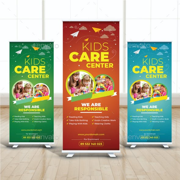 Kids Care Roll Up Banner