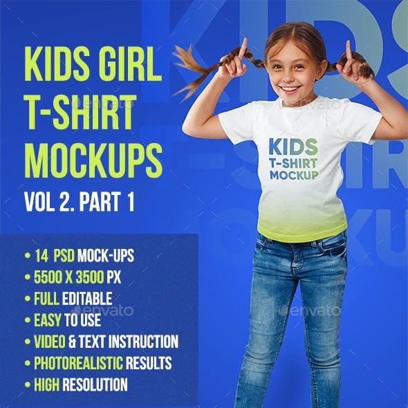 Kids Girl T-Shirt Mockups Vol 2. Part 1