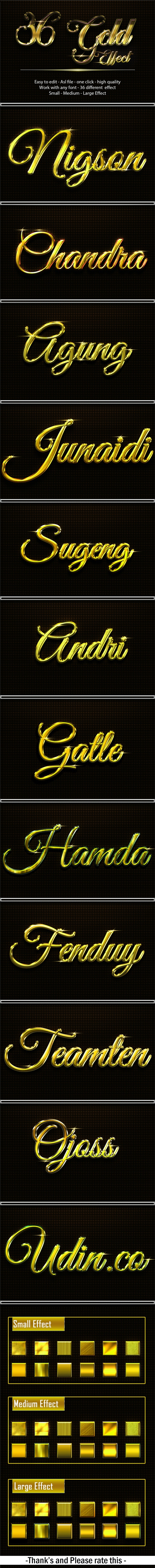 36 Gold Effect - Text Effects Styles