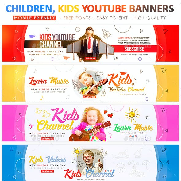 Kids YouTube Banners