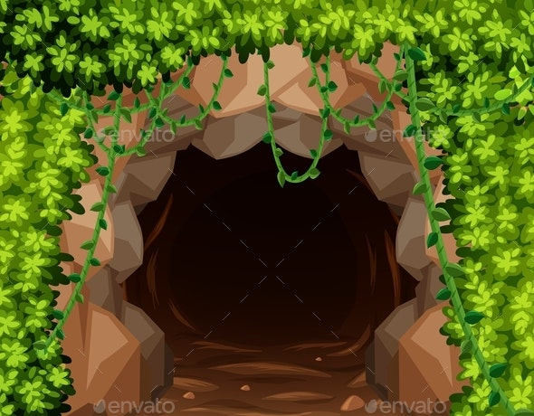 Mystery Mine Cave in Nature - Landscapes Nature