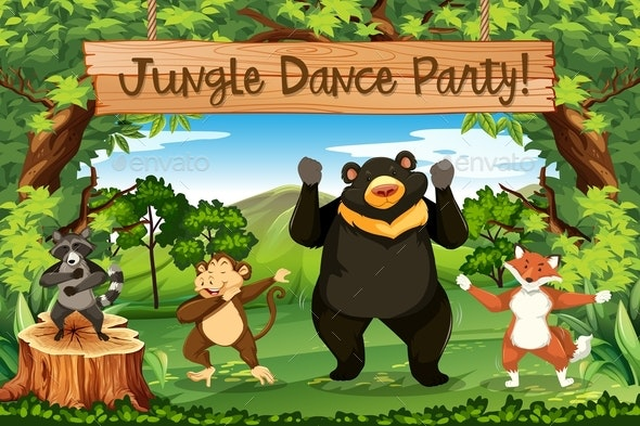 Animals Jungle Dance Party - Animals Characters