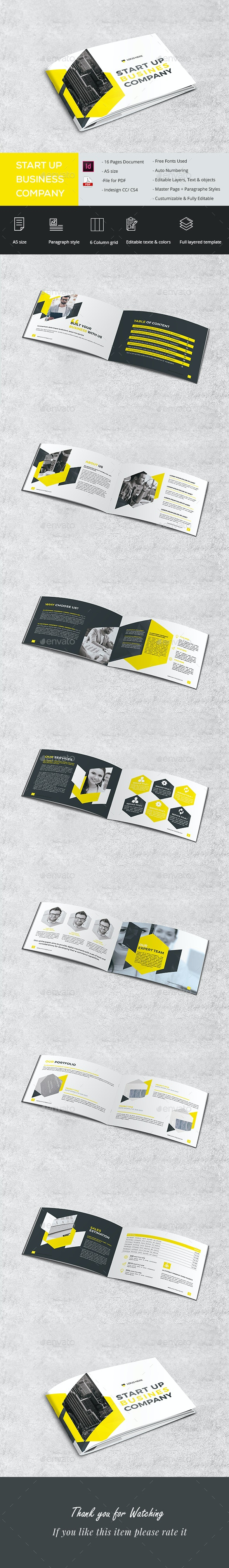 Start Up Plan - Brochures Print Templates