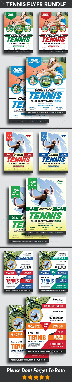 Tennis Flyers Bundle Templates - Sports Events
