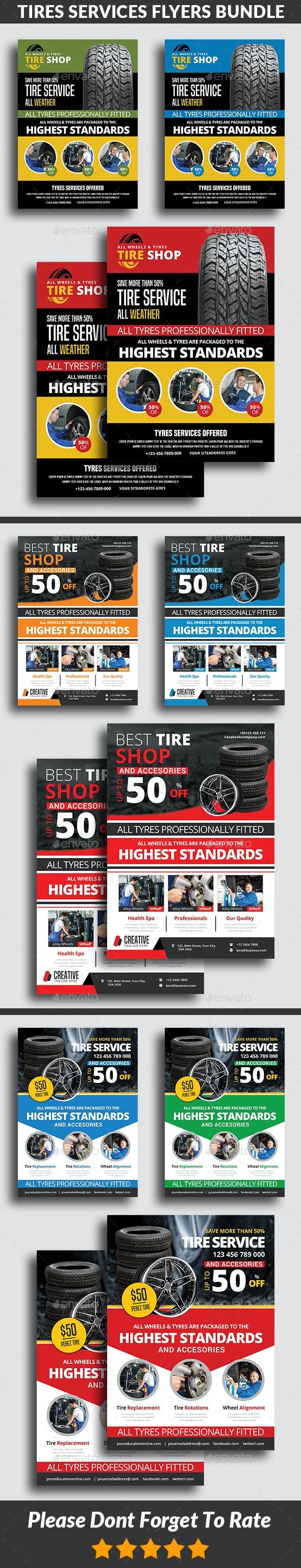 Tires Services Flyers Bundle - Commerce Flyers