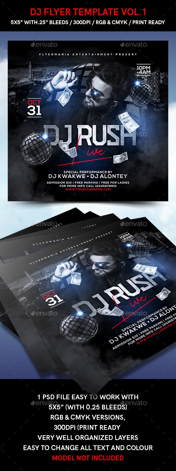 DJ Flyer Template Vol.1 - Events Flyers