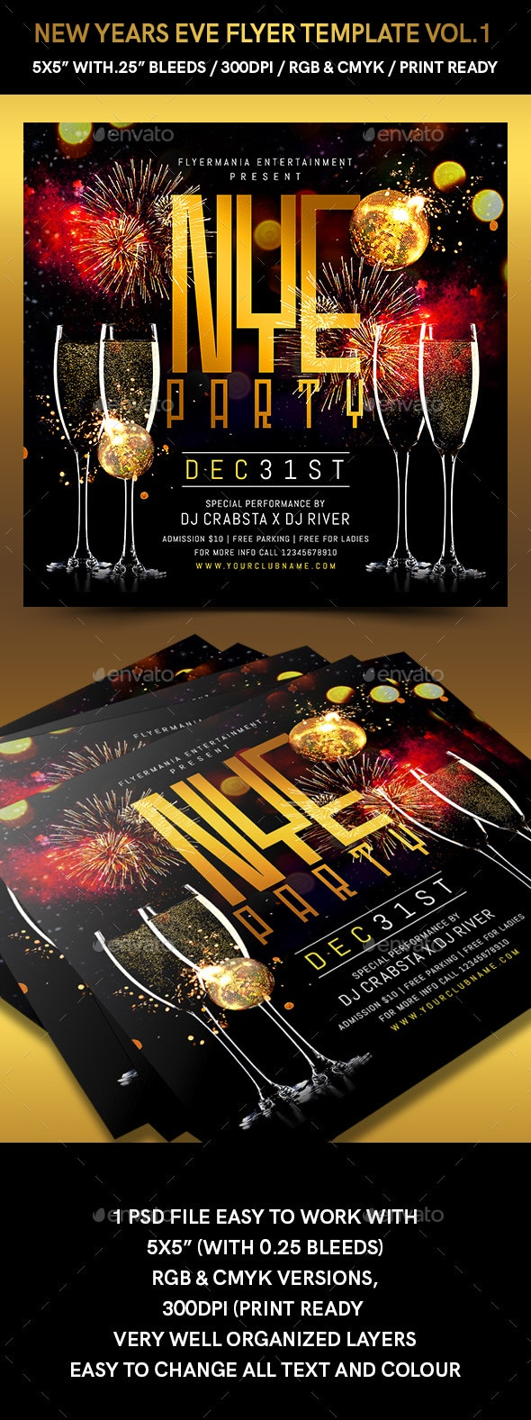 New Years Eve Flyer Template Vol.1 - Events Flyers