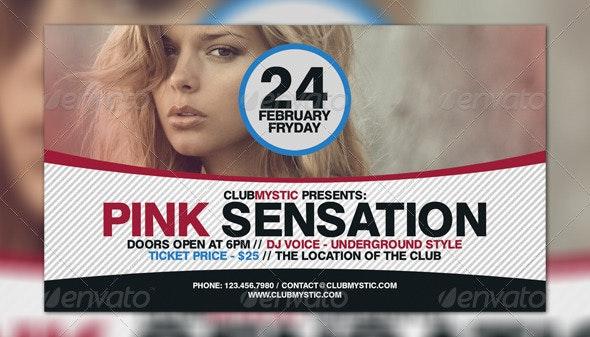 Pink Sensation Flyer Template - Flyers Print Templates