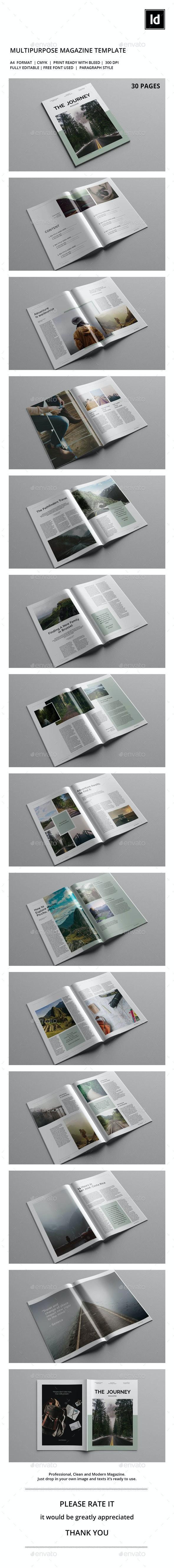 The Journey Magazine Template - Magazines Print Templates