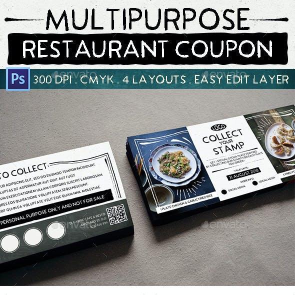 Multipurpose Restaurant Coupon