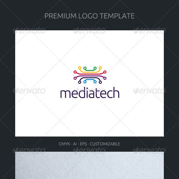 Media Tech Logo Template