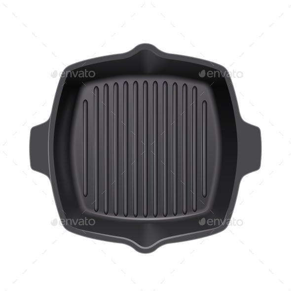 Cast-Iron Grill Pan for Cooking