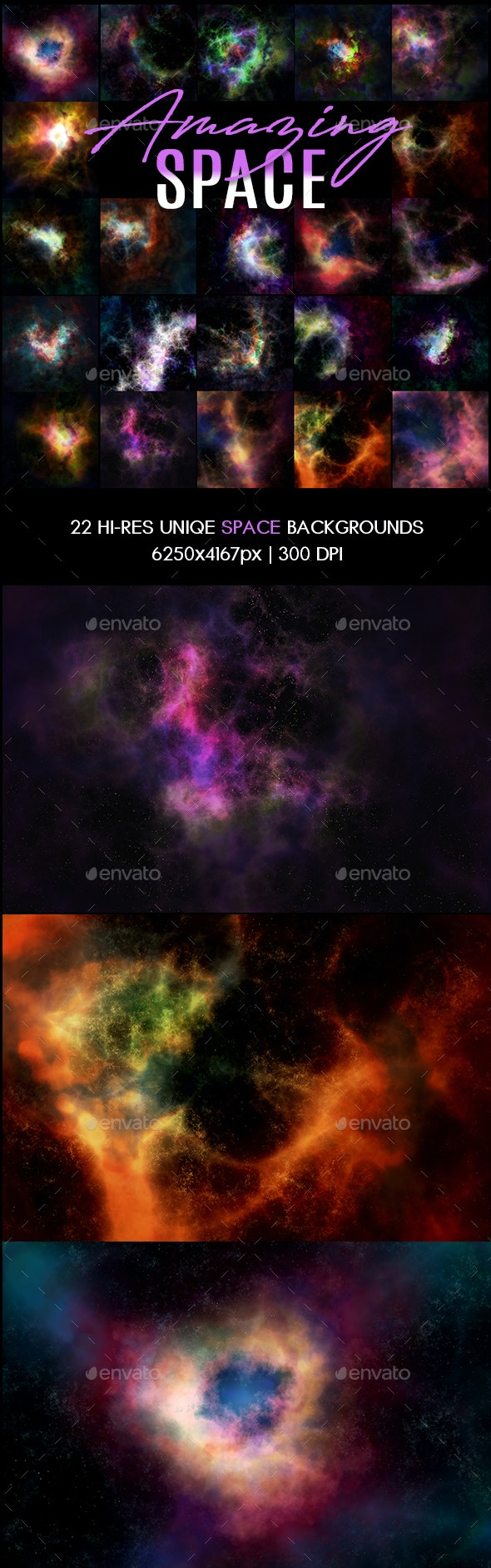 Amazing Space Backgrounds - Abstract Backgrounds