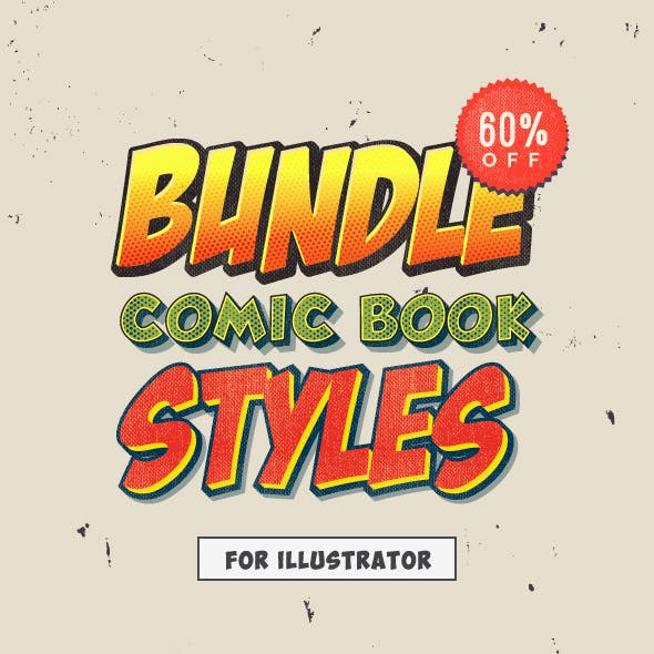 Bundle - Comic Book Styles for Illustrator