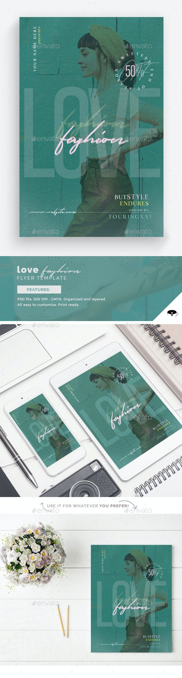 Love Fashion Flyer Template - Flyers Print Templates